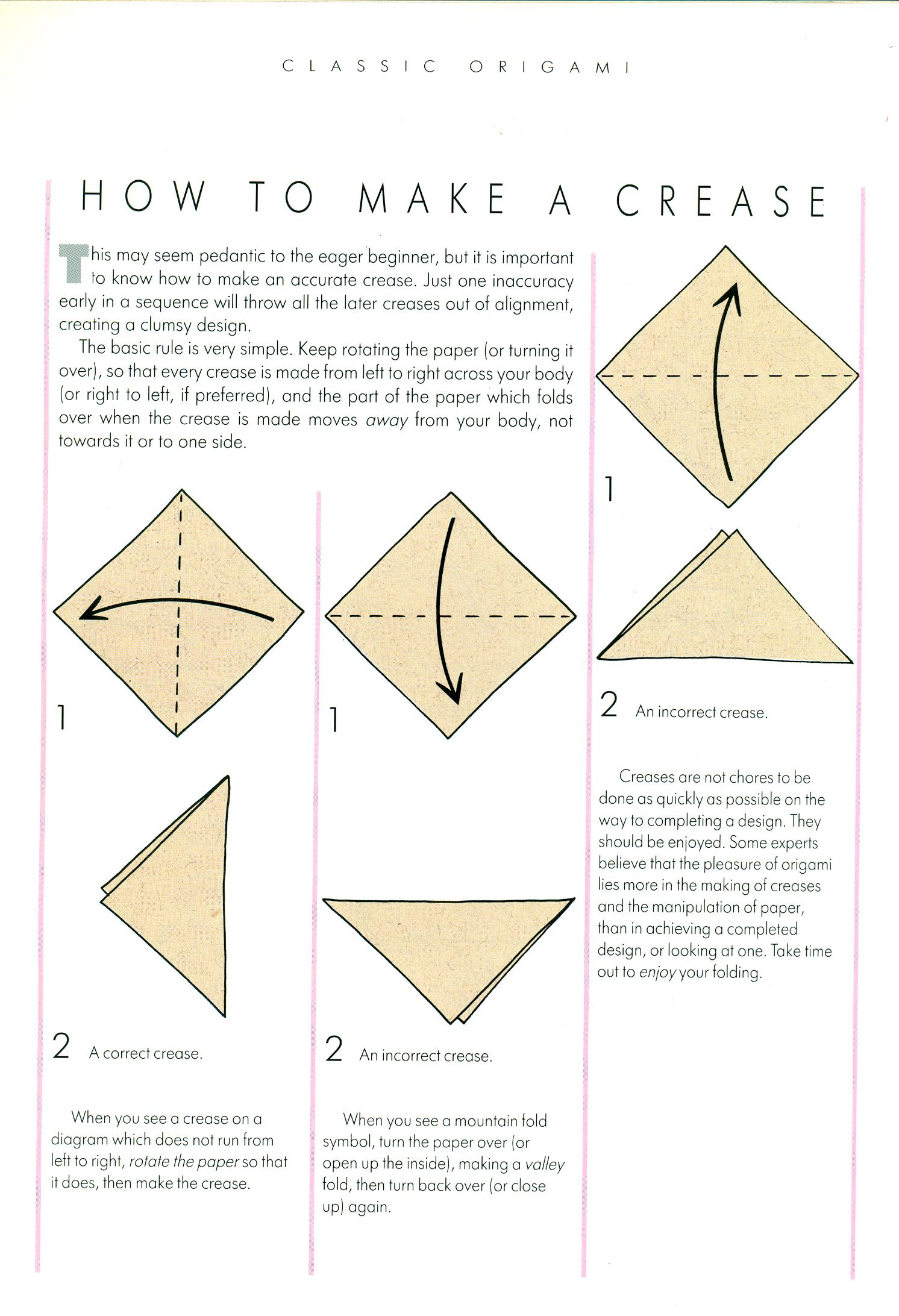 Origami Symbols And Basic Techniques Artclubblog