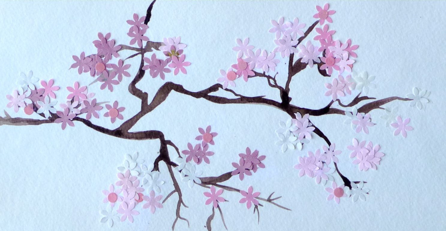 Image gallery japanese cherry blossom painting Japanese cherry blossom tree
