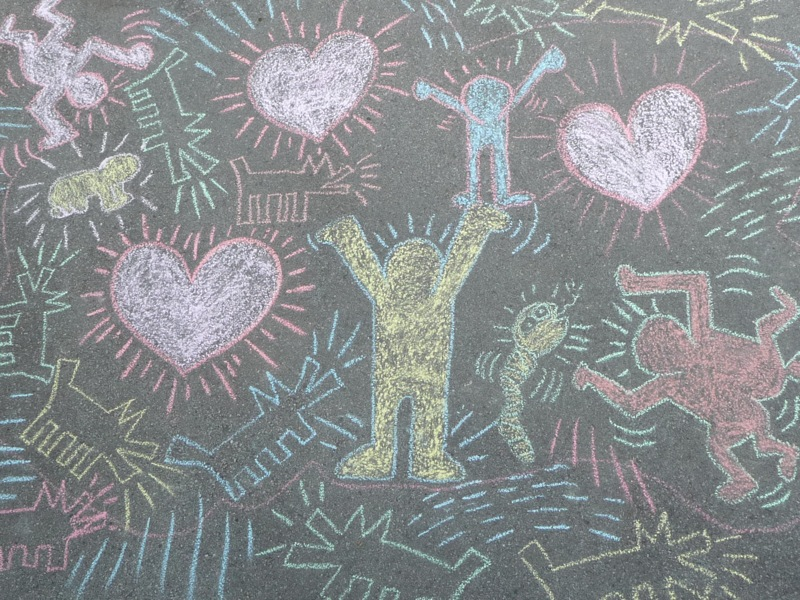 Keith Haring Graffiti Chalk Drawings | ArtClubBlog