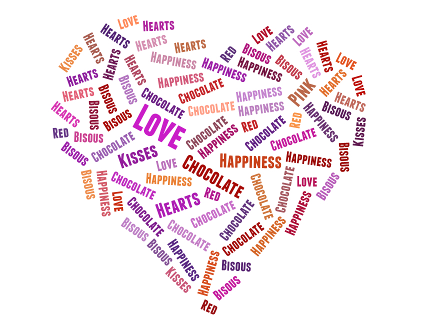 Word Cloud Valentine Cards | ArtClubBlog