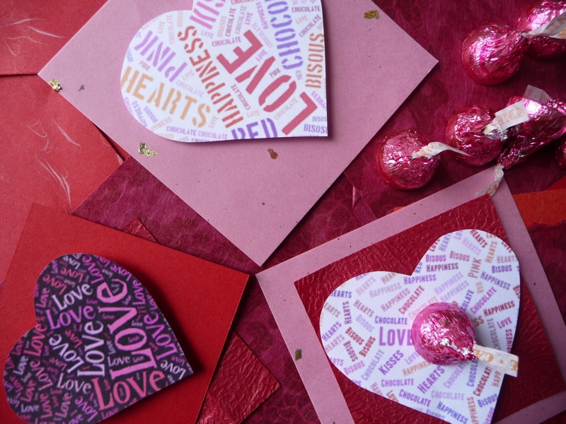 Word Cloud Valentine Cards – Valentines Cards Personalized