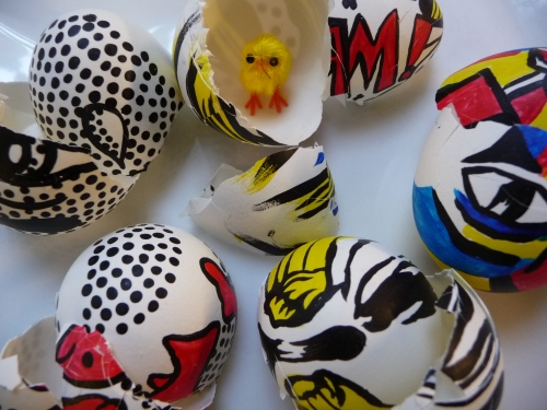 how to make painted easter eggs