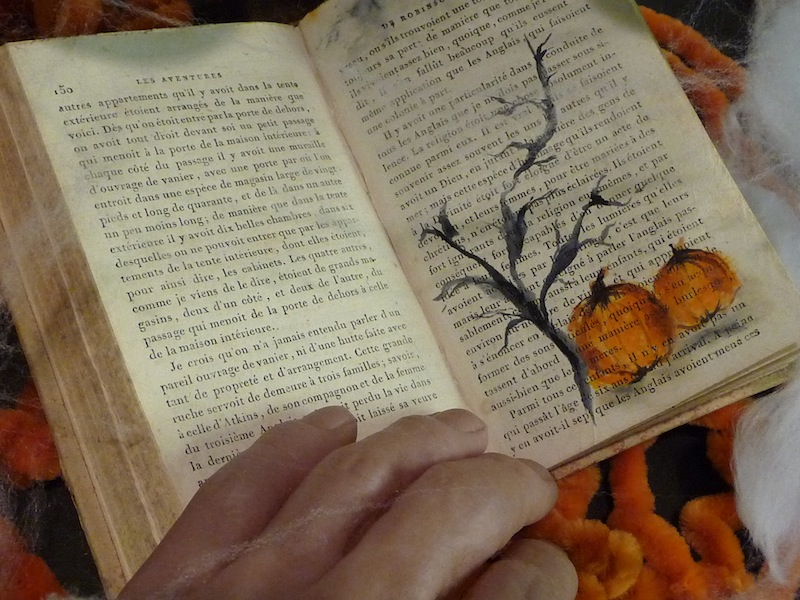 Painting On Old Book Pages