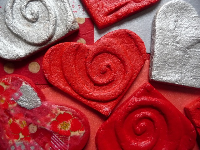 Salt dough valentine cards