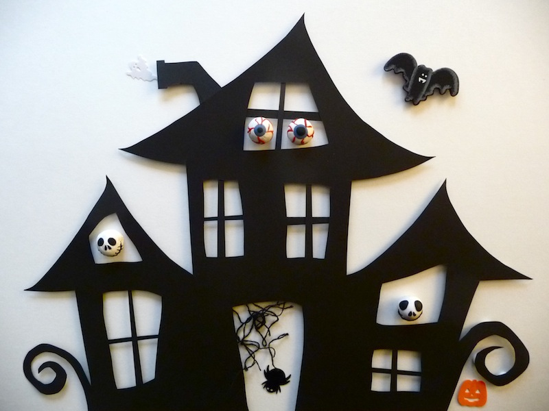 Haunted House Cut Out
